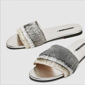 NWT Zara Slide Sandals